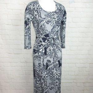 Versona women's size XS Maxi Dress Paisley Print
